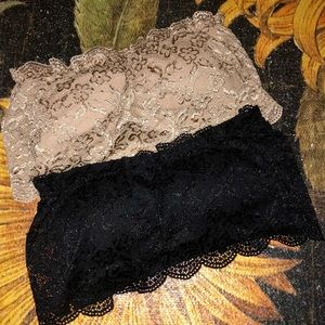 Set of 2 Strapless Lace Bras